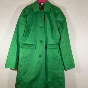 J Crew Kelly Green Button Up Rain Coat 4
